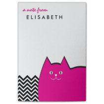 Pink Kitty Cat Chevron Post-it Notes