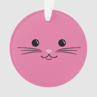 Pink Kitty Cat Cute Animal Face Design