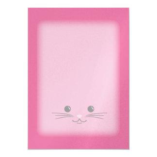 Pink Kitty Cat Cute Animal Face Design Card