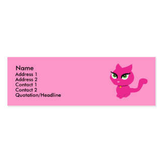 Pink Kitty Cat Profile Cards