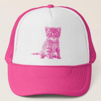 Pink Kitty Cat Trucker Hat