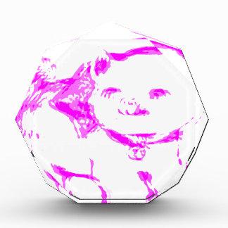Pink Kitty Kat Acrylic Award