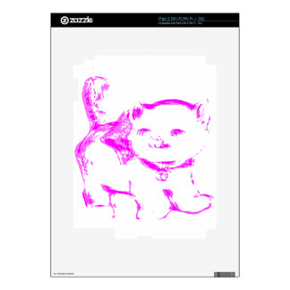 Pink Kitty Kat Decal For The iPad 2