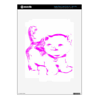 Pink Kitty Kat Decals For iPad 3