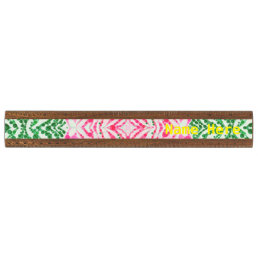 Pink Kitty Paws Zebra Abstract Ruler
