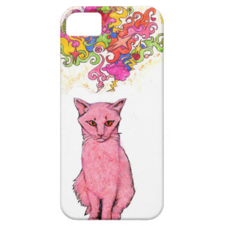 Pink Kitty with Psychedelic Thoughts iPhone SE/5/5s Case
