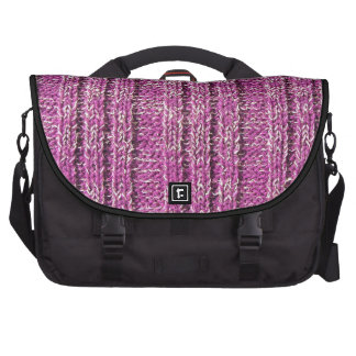Pink Knit Sweater Laptop Bags