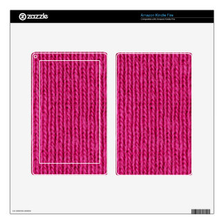 Pink knitted wool kindle fire skin
