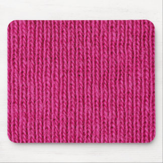 Pink knitted wool mouse pad