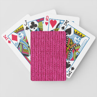 Pink knitted wool bicycle poker deck