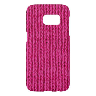 Pink knitted wool samsung galaxy s7 case