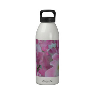 Pink Knockout Roses Painting Reusable Water Bottles
