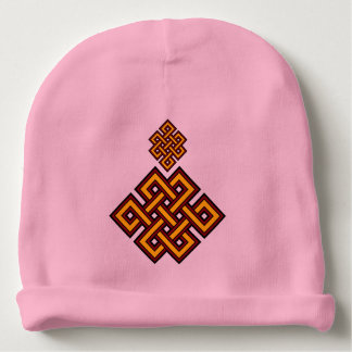 Pink Knot Baby Cotton Beanie