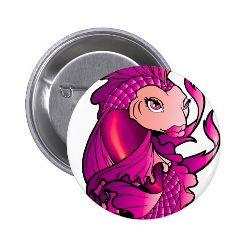 Pink koi pins