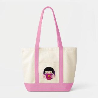 Pink kokeshi bag