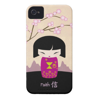 Pink kokeshi - faith iPhone 4 cover