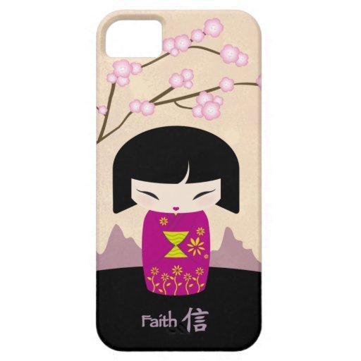 Pink kokeshi - faith iPhone 5 cases