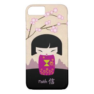 Pink kokeshi - faith iPhone 7 case