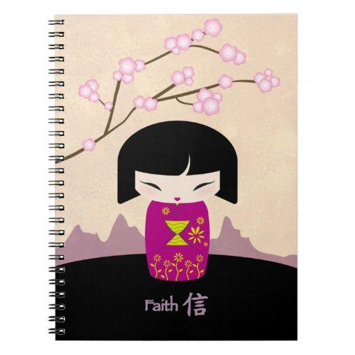 Pink kokeshi notebook