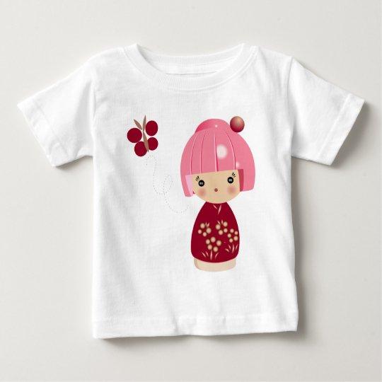 Pink Kokeshi Triplet Baby Tee