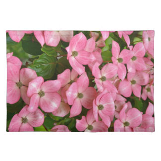 Pink kousa dogwood flowers print place mat