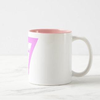 Pink L Two-Tone Coffee Mug
