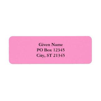 Pink Custom Return Address Label