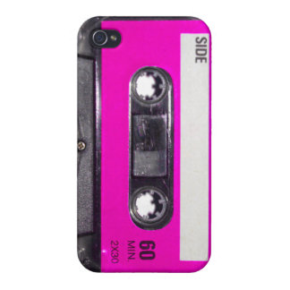 Pink Label Cassette Case For iPhone 4