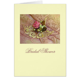 Pink Lace Bridal Shower Stationery Note Card