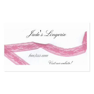 """Pink Lace"" Business Card"