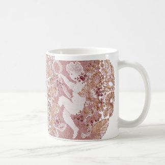 Pink Lace Cherub Coffee Mug