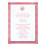 Pink Lace Flower Invitiations Personalized Announcement