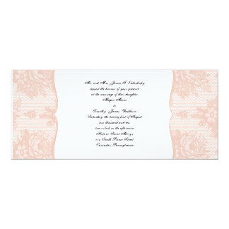 Pink Lace French Background Wedding Invitation