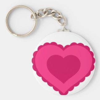 Pink Lace Heart Valentine Keychain