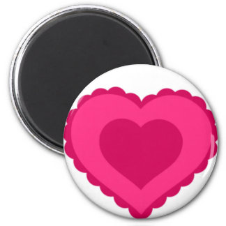 Pink Lace Heart Valentine Magnet