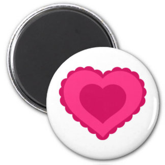 Pink Lace Heart Valentine Refrigerator Magnets