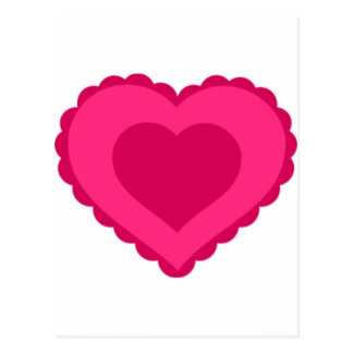 Pink Lace Heart Valentine Postcard