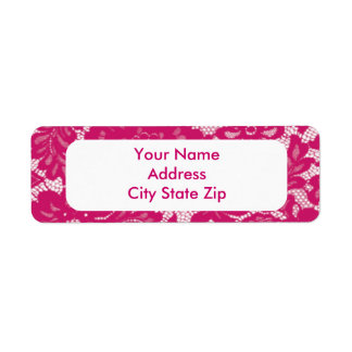 Pink Lace Label