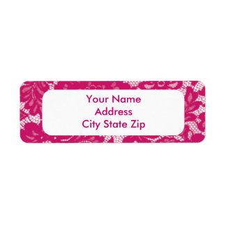 Pink Lace Label