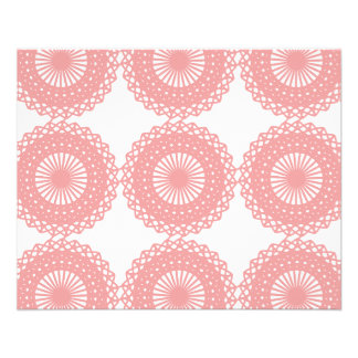 Pink Lace Pattern Design. Flyer