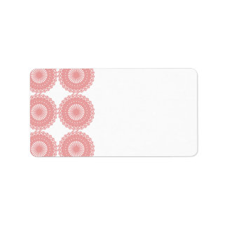 Pink Lace Pattern Design. Custom Address Label