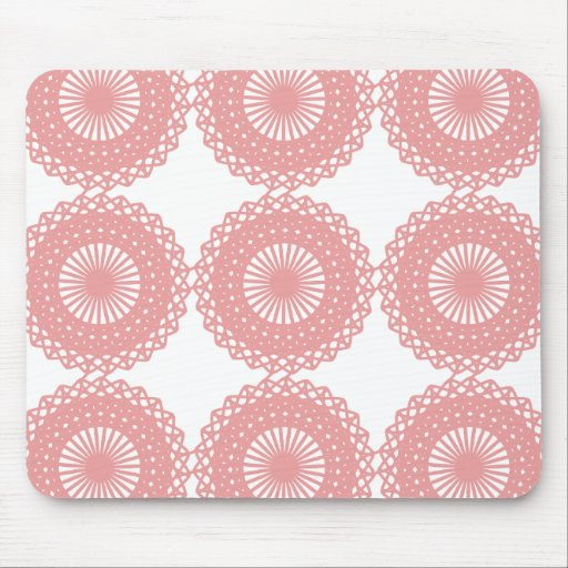 Pink Lace Pattern Design. Mouse Pad
