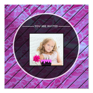 Pink Lace Replace Image Card