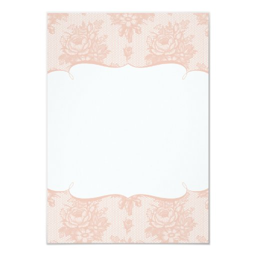 Pink Lace Reply Card Announcement