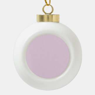 Pink Lace Star Dust Ceramic Ball Christmas Ornament