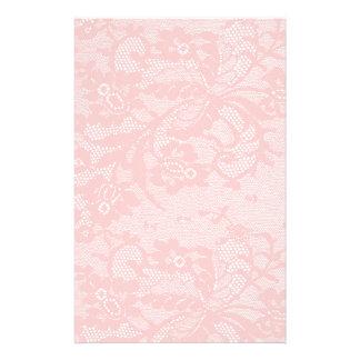 Pink Lace Stationery