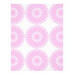 Pink Lace Style Design. Letterhead Design