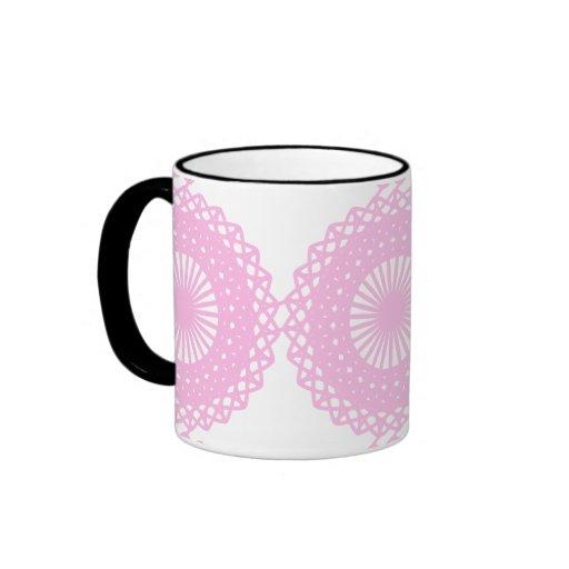 Pink Lace Style Design. Mugs