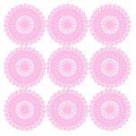 Pink Lace Style Design. Photo Cutouts