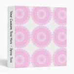 Pink Lace Style Design. Vinyl Binder